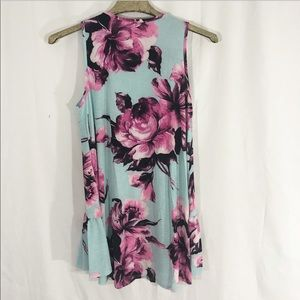 saved by the dress Dresses - NWOT SKY BLUE FLORAL TUNIC DRESS